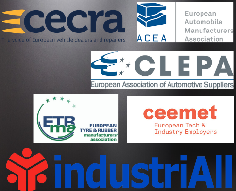 Saving jobs while reducing emissions: IndustriAll Europe, Ceemet, ACEA, CLEPA, CECRA and ETRMA call for an ambitious recovery plan for the automotive sector
